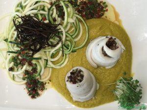 AlimenVie cycle avancés2 cours herbes aromatiques filets plie farcis tagliatelles courgettes crème carottes céleri