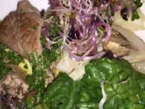 AlimenVie cycle initiation roulades boeuf farcies bettes champignons graines germées radis